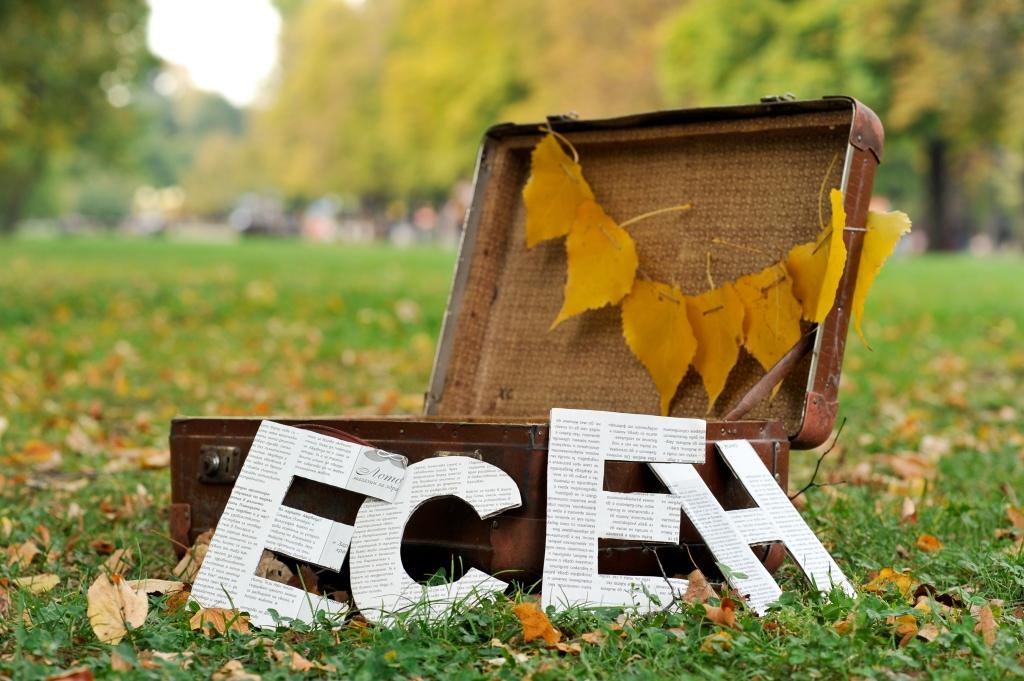 Есенни декорации с листа